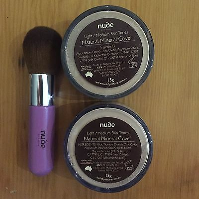 x 2 Nude by Nature Mineral Foundation + FREE Brush (choose your shade)