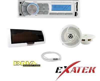DNA Marine MA4BP Marine Audio Kit MP3/USB/AM/FM/BT Speakers + Antenna Latest
