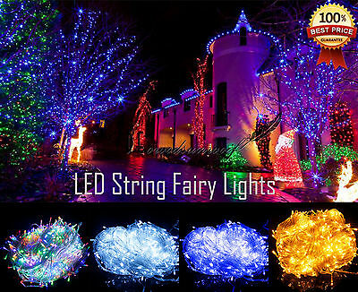 30/50/100M Christmas Xmas Fairy Outdoor/Indoor LED  String Lights Waterproof
