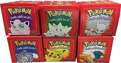 6 UNOPENED Red Box 1999 Burger King Pokemon Pokeball 23K Gold Plated Cards Set
