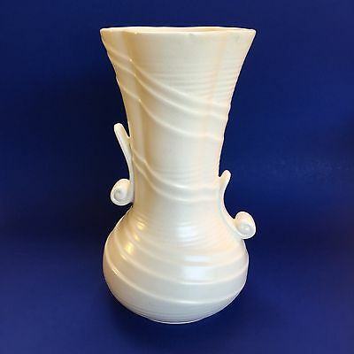 Large Sylvac Ivory Art Deco English Pottery Vase vintage