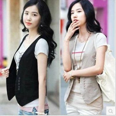 2016 New Stylish Women's Double-breasted Waistcoat Fashion Ladies Vest Coat Tops