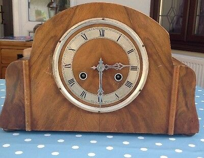 Vintage Art Deco Mantle Clock Perivale British Clock. Parts Repair