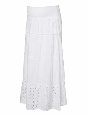 Mamalicious Maternity 'mlliv' Long White Lace Woven Skirt All Sizes Bnwt £40