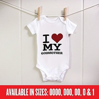 BABY Romper Love my Godmother Custom Bodysuit Cute Funny Gift Aunty Sister Mum