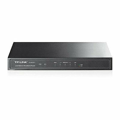 TP-Link TL-R470T+ Load Balance Broadband Router, Colore Nero