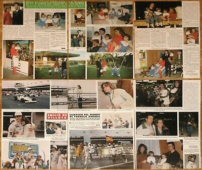 EMILIO DE VILLOTA coleccion prensa 1980s clippings Formula 1 One revista fotos