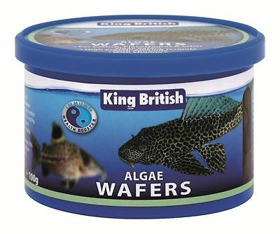 KING BRITISH ALGAE WAFERS 40g 100g FISH FOOD AQUARIUM TANK CATFISH PLECOSTOMUS