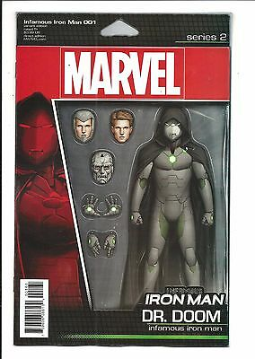 INFAMOUS IRON MAN # 1 (Dr DOOM ACTION FIGURE VARIANT, DEC 2016), NM NEW