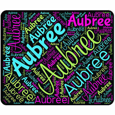 Personalized Mouse Pad Name All Over Word Mousepad Round Or Rectangle No Slip