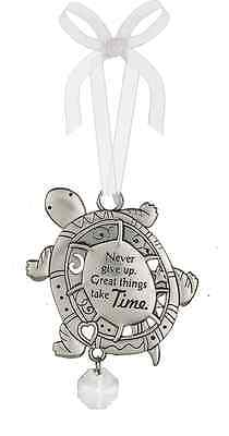 Ganz Turtlenever Give Up, Great Things Take Time Ornament Car Charm New