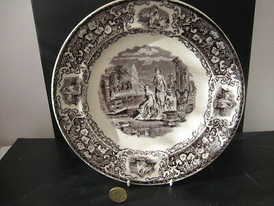 Rare Antique C1850 Staffordshire  Mulberry Dinner Plate