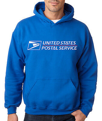 USPS POSTAL ROYAL BLUE HOODIE Hooded Sweatshirt US Logo United States Service