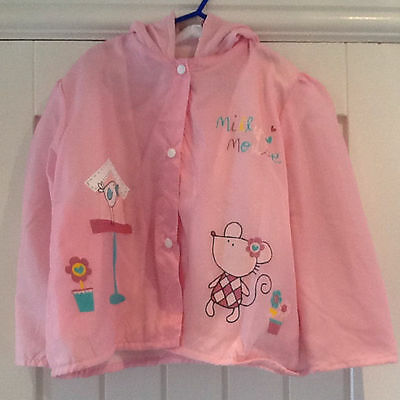 Girls Pink Raincoat Age 4 Years BNWT