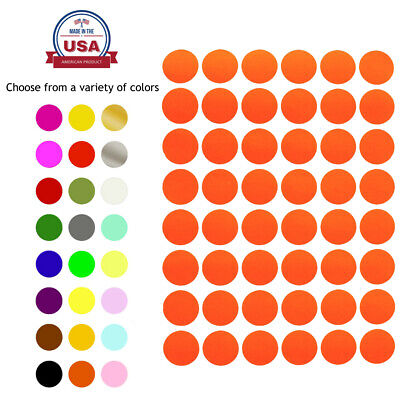 ~3/4 Inch Diameter 17mm Color Round Dot Stickers on Sheet Circle Labels 336 Pack