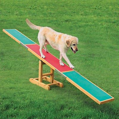 Dog Activity Agility OUTDOOR Seesaw Exercise Garden Toys Dogs NO SLIP Fitness