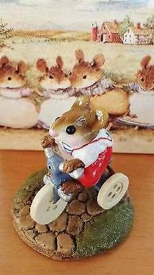 """Wee Forest Folk M-101 """"Mousey's Tricycle"""" (AP) (retired '02) Red Pants MINT"""