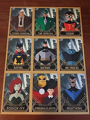 DC Comics - Promo NYCC 2016-DC Batman Animated Uncut Cards