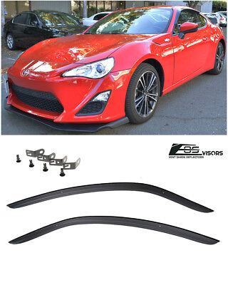 Visors Wind Deflector 2pcs Out-Channel Rain Guard For 17-18 Dodge Challenger