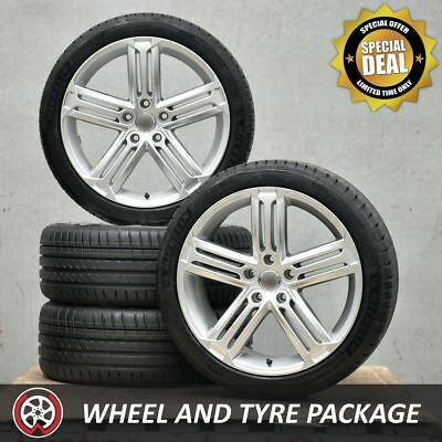 18 Inch GT Silver Wheels and NEW Tyres 225/40R18 for VW Golf GTI R Mk5 Mk6 Mk7