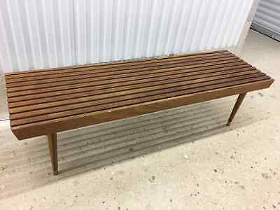 Sensational Mid Century Modern Long Danish Slat Bench Table 399 99 Creativecarmelina Interior Chair Design Creativecarmelinacom