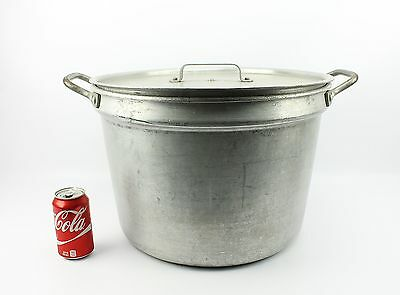Huge US Military 10 Gallon AMSS 2006 Stock Pot & Nash 1987  Lid & Boil Over