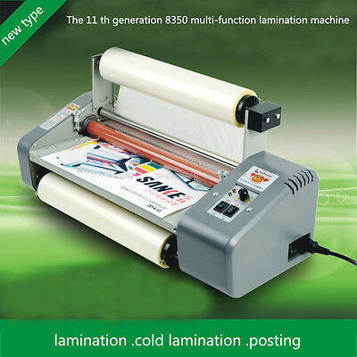 11 generation 8350 Laminator 220v Four Rollers Hot Roll Laminating Machine A3+