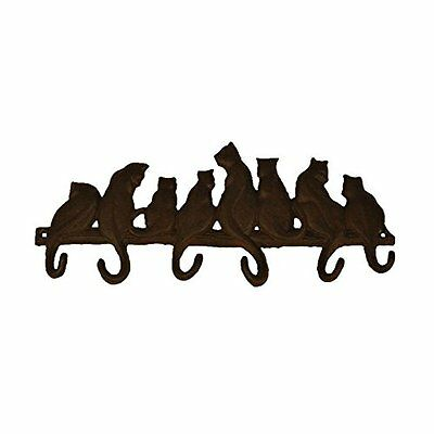 Best Plus TB002 Bestplus 8 Cats Cast Iron Wall Hooks/ Hats Bag Key Coat Vintage