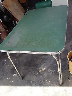 RETRO VINTAGE CHROME/LAMINEX CRAFT TABLE with matching chair