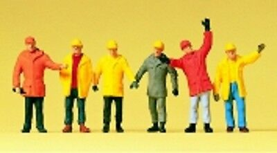 PREISER 14034 1:87 HO SCALE Workers In Protective Clothing x 6