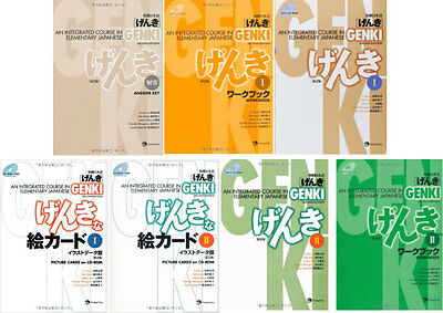 3-7 Days to USA GENKI 2 Integrated Course Elementary Japanese Work And Text 7Set