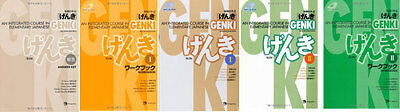 3-7 Days to USA GENKI 2 Integrated Course Elementary Japanese Work And Text 5Set