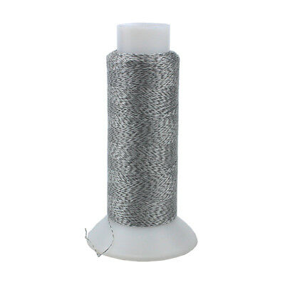 Polyester Silver Reflective Thread Yarn For Sewing & Kniting & Weave Gray 500M