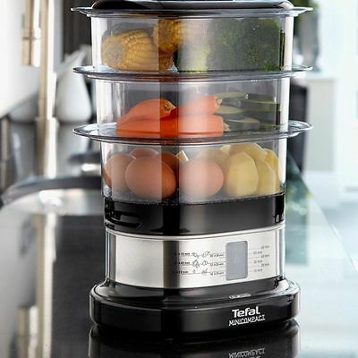 Food Steamer Tefal Cooker Healthy Cooking Appliance Vegetable Egg Rice Compact