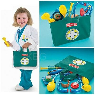 Kids Pretend Doctor Set Medical Nurse Toys Stethoscope Thermometer FISHER PRICE