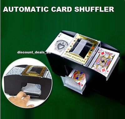 Card Shuffler Poker Deck Games Blackjack Automatic Shuffling Battery Operated