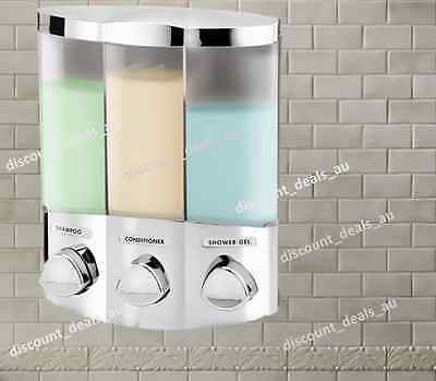 Soap Dispenser Shower Liquid Shampoo Bath Caddy Wall Mounted Bathroom Chrome