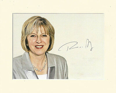 Teresa May Conservative Prime Minister Pp Mounted 8X10 Signed Autograph Photo