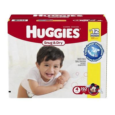 Huggies Snug & Dry Diapers, Size 4, 192 Count Babies BST New Free Shipping