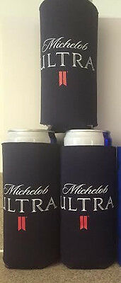 3 New  REAL DEAL Michelob Ultra SLIM CAN Beer Koozie Coozie Coolie Bud Light
