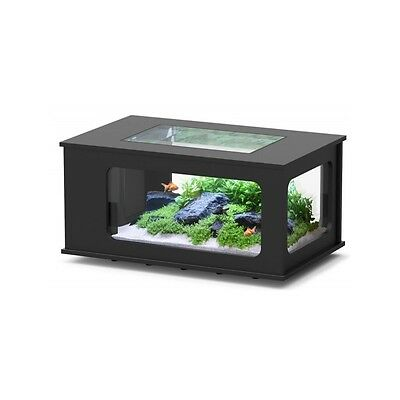 Table basse Aquarium LED 130X75 NOIR