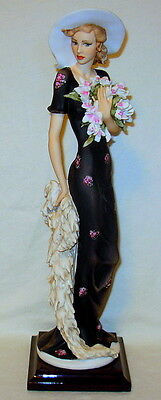 """Vintage Giuseppe Armani """"Orchid"""" Florence Italy Figurine - Excellent!"""