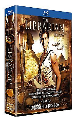 The Librarian 1 2 & 3 Trilogy (Noah  - Region B - BLU RAY  sealed
