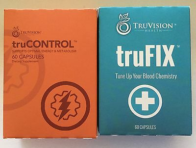 NEW!!!!   TRUVISION TRUFIX and TruCONTROL 1 MONTH SUPPLY  NeW  FAST SHIPPING