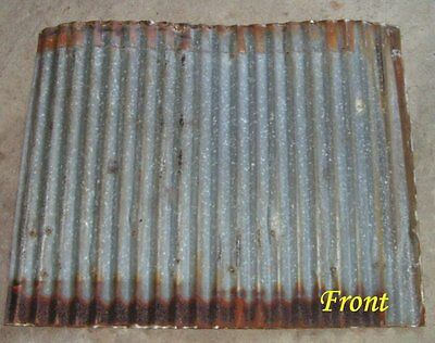 "Vintage Metal CORRUGATED TIN metal apprx 26"" x 21"" reclaimed ceiling roof sheet"