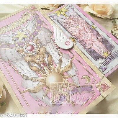New Anime Card Captor Sakura Cards With Pink Clow Magic Book Set Prop Gifts 56Pc