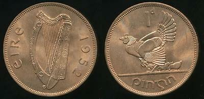 Ireland, Republic, 1952 One Penny, 1d - Choice Uncirculated