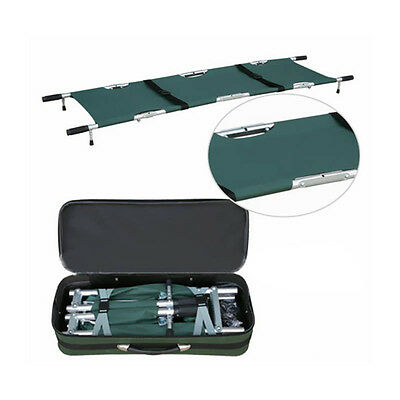 Portable Folding Aluminum Search & Rescue First Aid Medical Stretcher Army Green