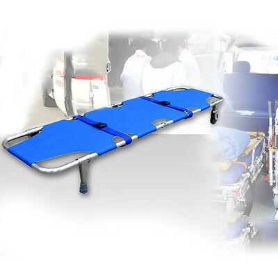 Foldable With Casters Medical Ambulance Emergency Rescue Patient Stretcher