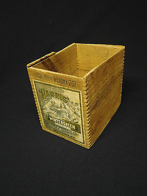 Original ADVERTISING Box Harris Wintergreen Extract With Paper Label